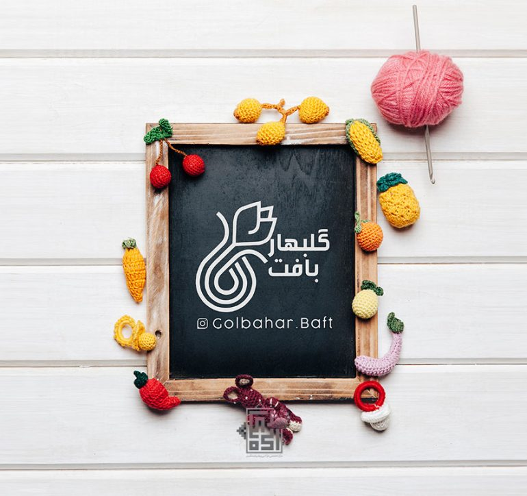 طراحی لوگو صفحه اینستاگرام گلبهاربافت